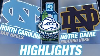 North Carolina vs Notre Dame | 2015 ACC Championship Highlights