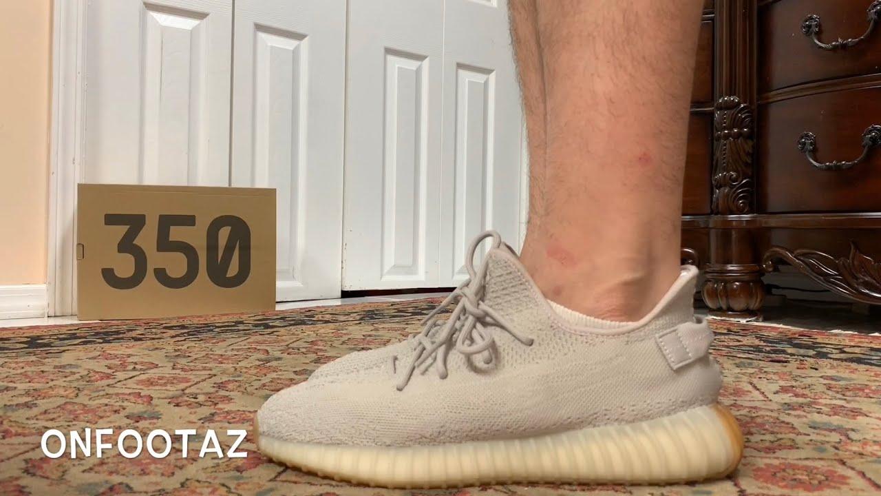 yeezy 350 sesame on feet