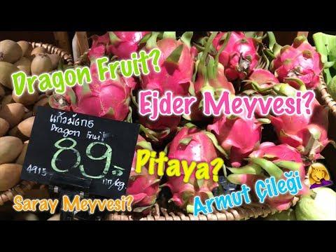 Dragon Fruit? Ejder Meyvesi? Armut Çileği? Pitaya? | Bangkok'ta Tropikal Meyveler