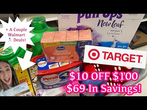 TARGET $10 OFF $100 PURCHASE USING COUPONS & EARNING GIFTCARDS $69 IN SAVINGS!