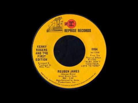 1969 188 Kenny Rogers And The First Edition Reuben James 45 Youtube