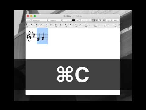 Cavatina - Copy and paste music notation in TextEdit