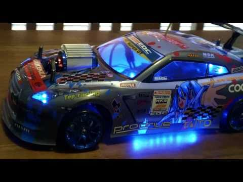Nissan R35 Gt R 1 10 Rc Drift Car Youtube