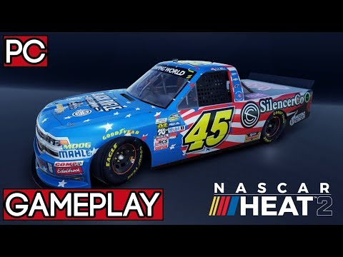 NASCAR Heat 2 Eldora Speedway Gameplay