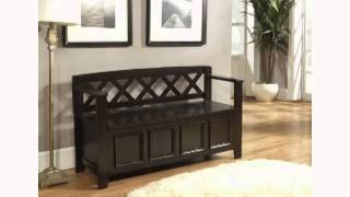 Simpli Home Amherst Collection Entryway Bench