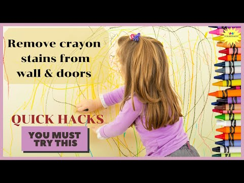 Cleaning Crayon off your walls | 3 Quick Hacks