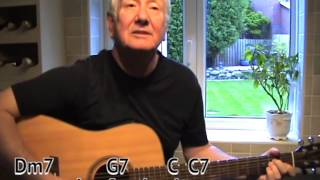 The Long and Winding Road - Beatles cover - easy chords guitar lesson- on-screen chords and lyrics