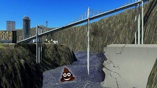 DE DAM BREEKT! TSUNAMI VAN SCHIJT! - POEPDAM #2 (Cities Skylines)