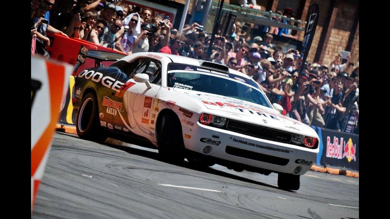 Samuel H 252 Binette Dodge Challenger Red Bull Drift