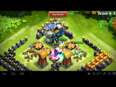 $003 Smurf Gameplay + IOS Youtuber James - Castle Clash
