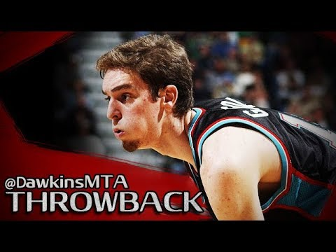Rookie Pau Gasol Full Highlights 2002.01.14 At Lakers - 25 Pts, 12 Rebs In 3 Quarters!
