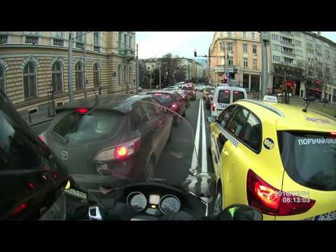 Piaggio MP3 daily ride in Sofia, Bulgaria Feb 2016