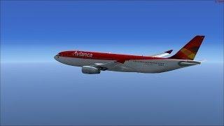 FSX Avianca A330-200 SKRG-LEMD