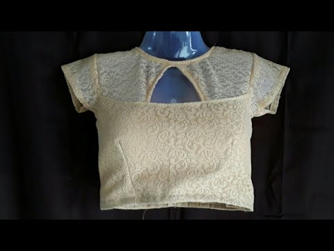 Net Blouse Design Cutting And Stitching Step By Step