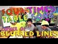 Four Times Table Song (Blurred Lines Cover) with Classroom Instruments