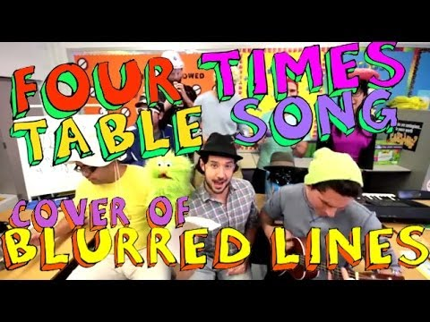 Four Times Table Song Blurred Lines  with Classroom Instruments