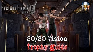 Resident Evil 0 HD Remaster - 20/20 Vision Trophy Guide (Kill 50 enemies with the Death Stare)