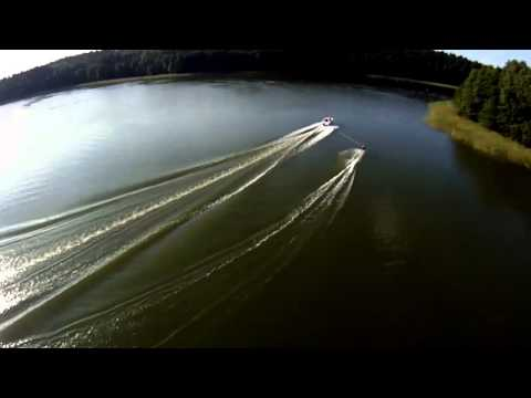 Mazury Lakes, Poland, Having fun with Jet Ski and Aerial Video