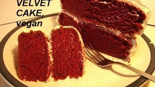 Best Red Velvet Cake, Vanilla Frosting, Recipe, Colored Sugar, Vegan, Easy How To Diy Cooking