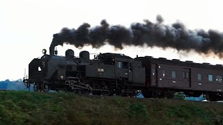 [4K]只見線 C11型蒸気機関車 試運転 2015 復路