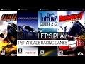 PPSSPP Gameplay: Best PSP Arcade racing games (part 1) 60FPS