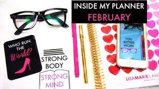 Inside My Erin Condren Life Planner | February 2015