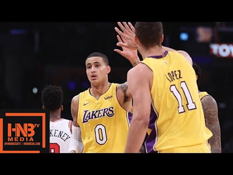 LA Lakers vs Chicago Bulls 1st Half Highlights / Week 6 / 2017 NBA Season