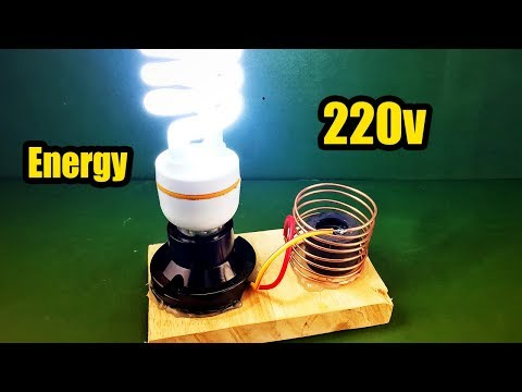 Awesome Technology Free Energy Generator Light Bulb 220v | Electric Using Magnet 100%