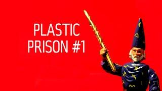 Пластиковий в'язниці #1 - Мерлін, легенди про лицарів і драконів - старовинні іграшки розпакування