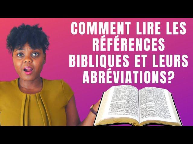 Comment lire les références bibliques et leurs abréviations? | #GrâceNo