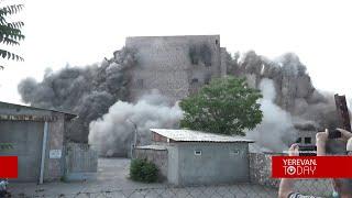 «Ձյունիկ սառնարան» ընկերության շենքի պայթեցումը՝ տեսանյութով