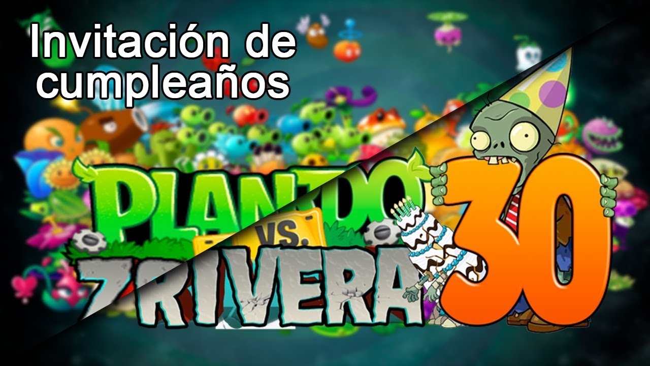 Tutorial De Plantas Vs Zombie Para Una Invitacion De Cumpleaños
