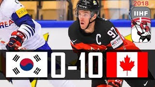Canada vs Korea | 2018 IIHF Worlds Highlights | May. 6, 2018