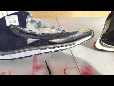 d9512c20f096 This Guy Is Cutting Air Jordans in Half to Show What They Look Like Inside
