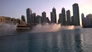 Fountain Show at Burj Khalifa part 1 wd Arabic Song , Ashis & Sanchi