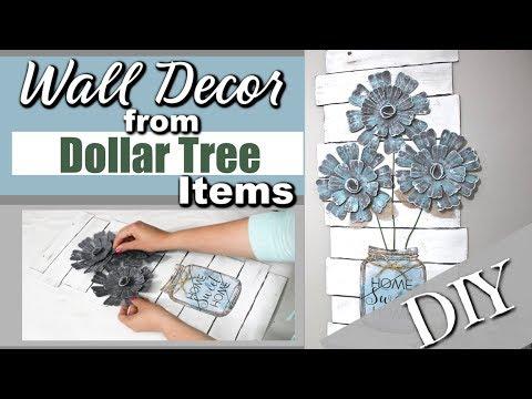 DIY Dollar Tree Wall Decor | DIY Home Decor Dollar Tree | Dollar Tree DIY | Krafts by Katelyn