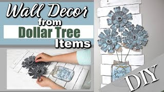 DIY Dollar Tree Wall Decor | DIY Home Decor Dollar Tree | Dollar Tree DIY | Krafts by Katelyn