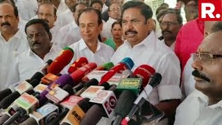 Tamil Nadu CM Edappadi K. Palaniswami Speaks On AIADMK Illegal Banner Accident In Coimbatore