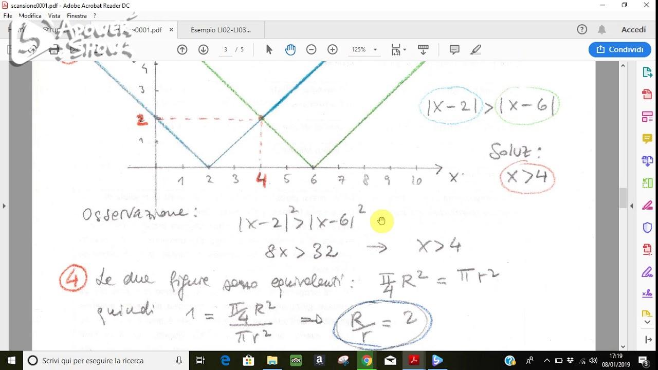 soluzione quesiti simulazione matematica 2018 - YouTube