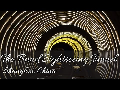 The Bund Sightseeing Tunnel - Shanghai, China (HD)