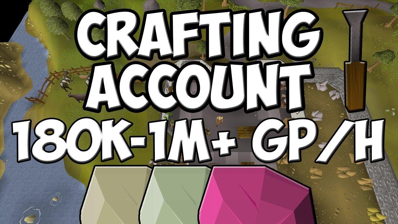 (OSRS) Crafting Account - Opals/Jades/Topaz | Profit Per Hour