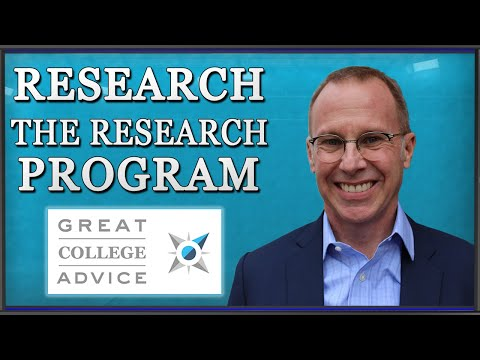Educational Consultant Says Research the Research Program