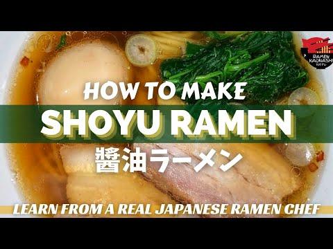 How to make Japanese Shoyu Ramen - Original Recipe - No MSG - ()