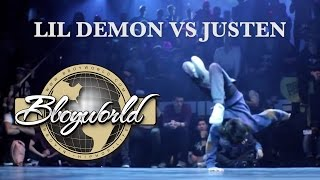 LIL DEMON vs JUSTEN (KING OF THE KIDZ) WWW.BBOYWORLD.COM