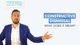 Constructive dismissal: what does it mean? thumbnail
