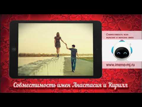 Совместимость имен Анастасия и Кирилл