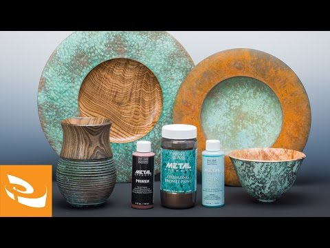 Modern Masters Metal Effects Reactive Metallic Paints | Woodturning