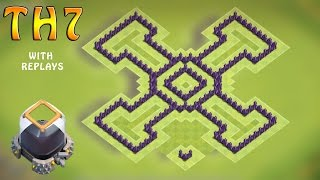Clash Of Clans (CoC) - TH7 FARMING Base BEST Town Hall 7 Dark Elixir Farming Base  2016