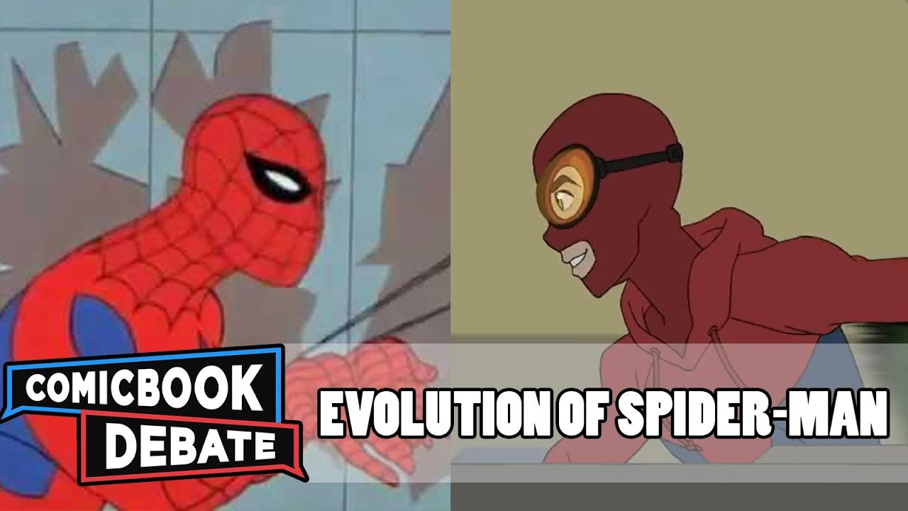 evolution of spider man