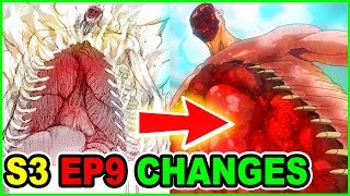 (0.14 MB) FACELESS 120M ROD TITAN UPGRADED!   ALL MAJOR CUTS & CHANGES   Attack on Titan Season 3 Episode 9 Mp3